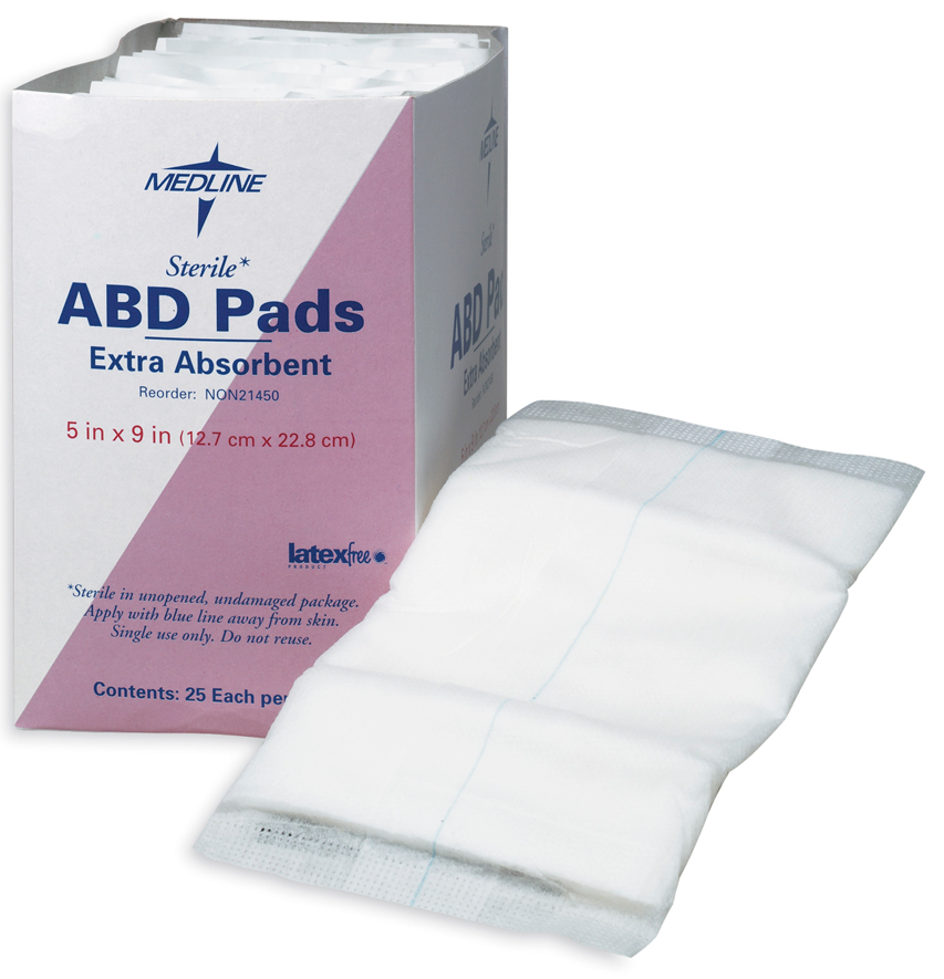 sterile abdominal gauze pad 5 x 9 clinical 1 home medical