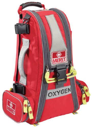 RECOVER PRO EMS O2 Response Bag in EMS Red, 1 each plus The XTRA™ Fill Pak Module in Red