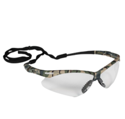 Safety Glasses, Camo Frame, Clear Lens, 1 each - Clinical 1 Home Medical